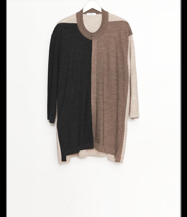 Open front Knit T-Shirt / Multi