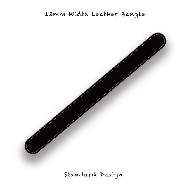 13mm Width Leather Bangle / Standard Design