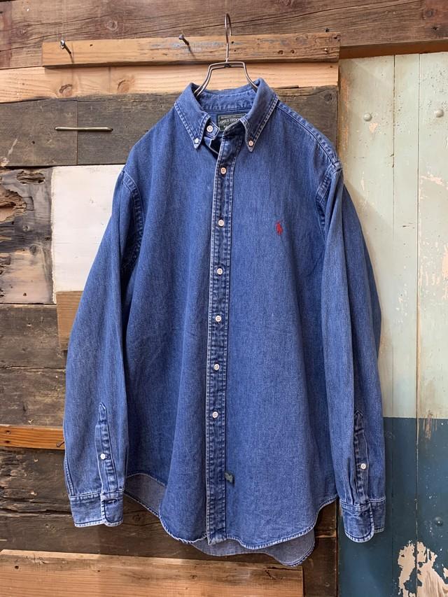 80-90's polo country denim shirt