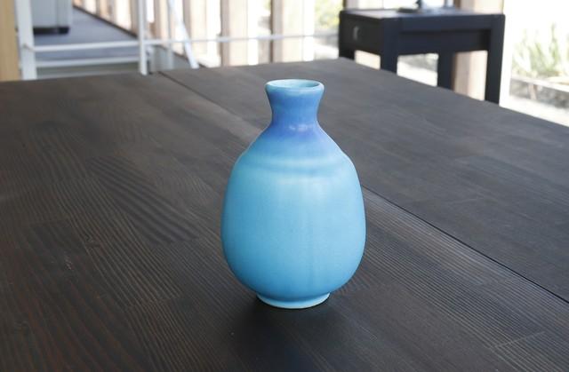 【SP3A15-29】『美濃の匠』『徳利』『トルコ釉』   *綺麗な水色 きれいな盃 おしゃれ インテリア ギフト トルコ 海