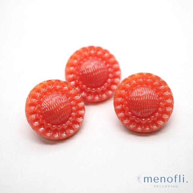 赤 花デザイン ヴィンテージボタン チェコガラスボタン RH419 20210816