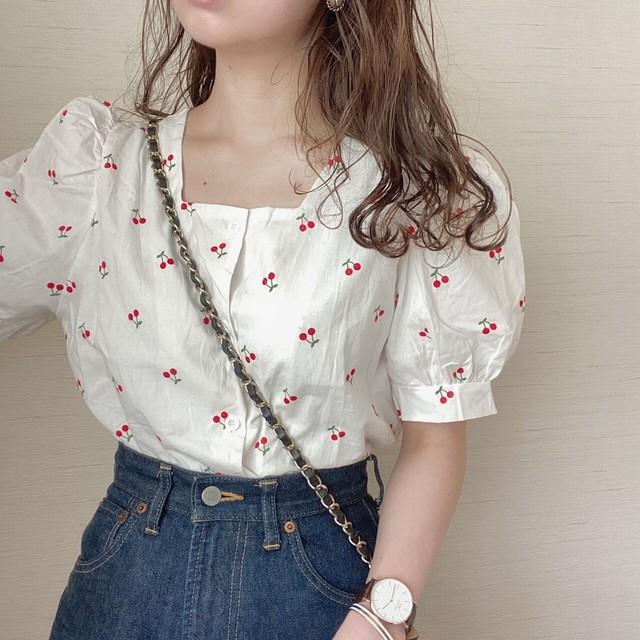 cherry blouse[5/19n-29]
