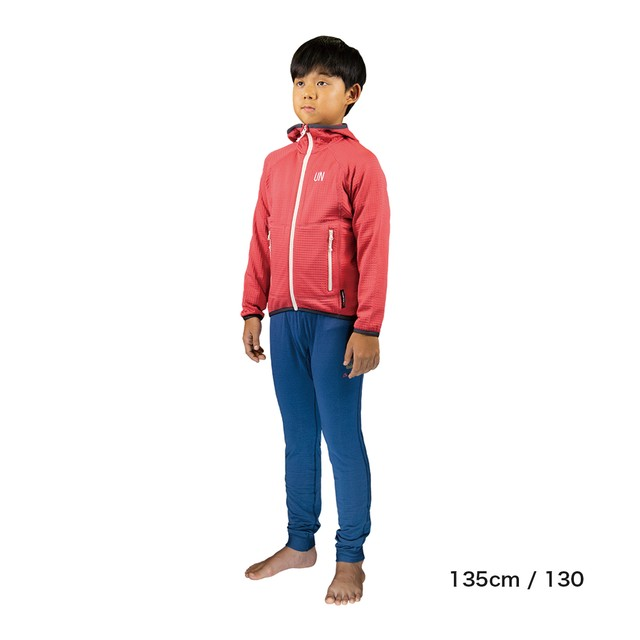 Kids / UN2100 Light weight fleece hoody / Red