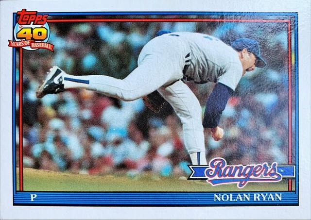 MLBカード 91TOPPS Nolan Ryan  #001 RANGERS