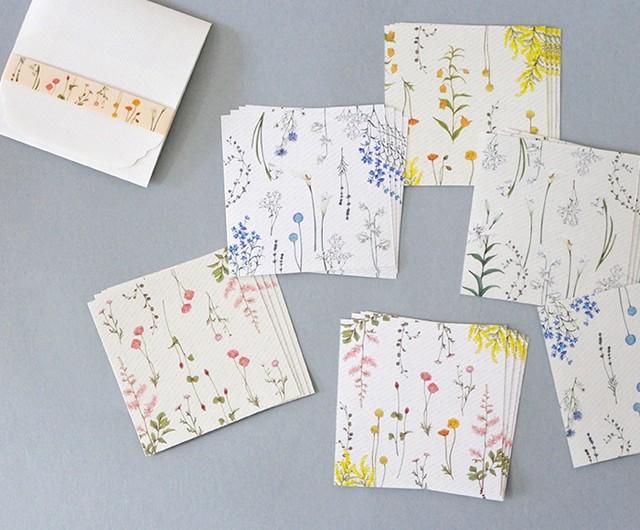 花たちの彩メモ便箋セット(ケース付)