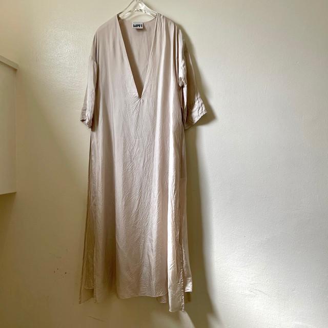 【hippiness】cupro shirring pants (123green) /【ヒッピネス】キュプラシャーリングパンツ(123グリーン)