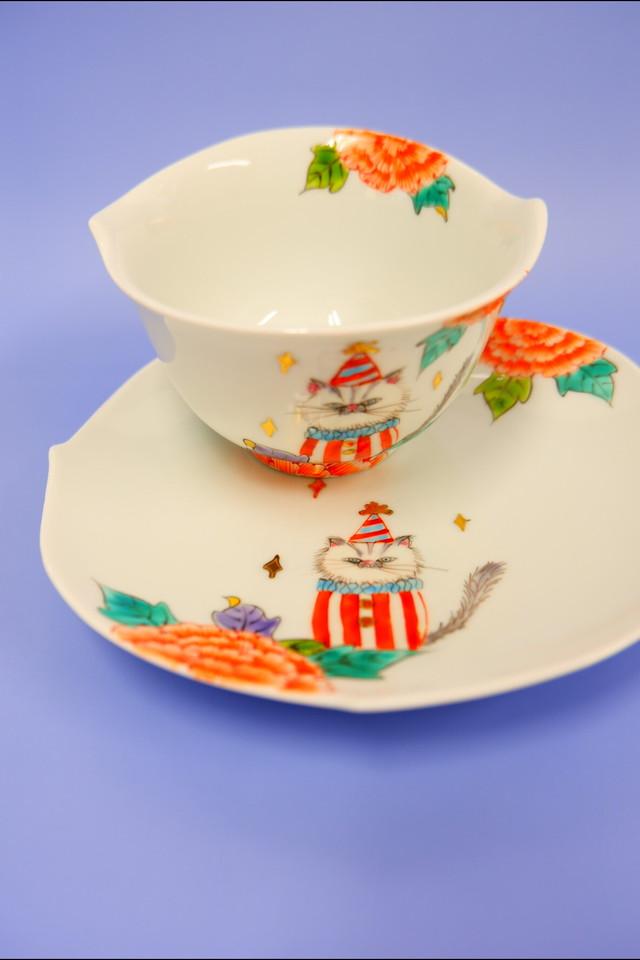cat  circus (襟BL) / cup&saucer