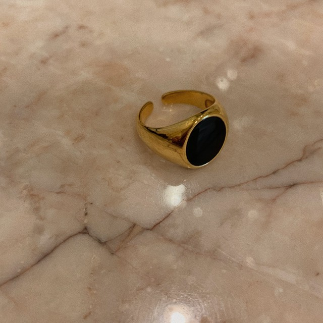 7/3 NEW gold ring(stone)