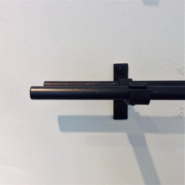 [1110mm~1500mm]13mmφ ダブルアイアンカーテンレール(部材込)