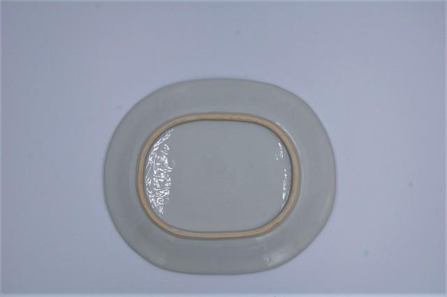 ◆受注生産◆染付七宝文七寸楕円皿 新道工房作