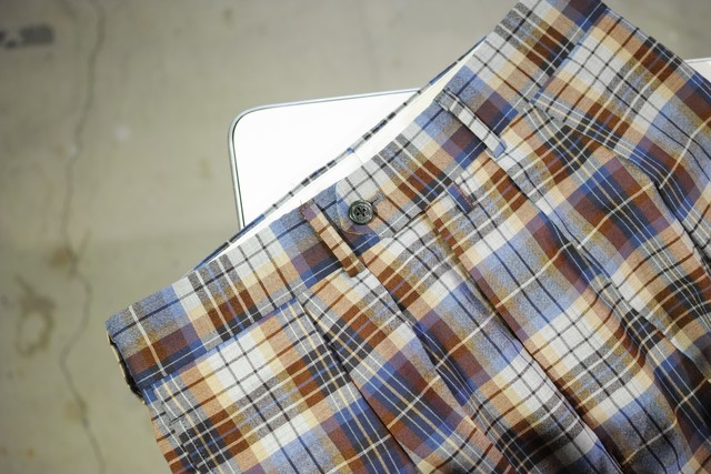 NEAT <WIDE> FOX BROTHERS WOOL MADRAS