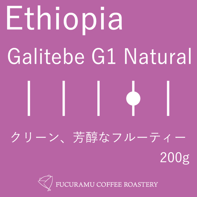 エチオピア ガルテンビ G1 ナチュラル【フルシティ】200g