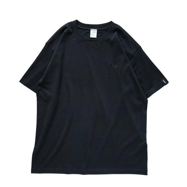 BASIC LOGO 019 S/S CT <Black×Black> - メイン画像