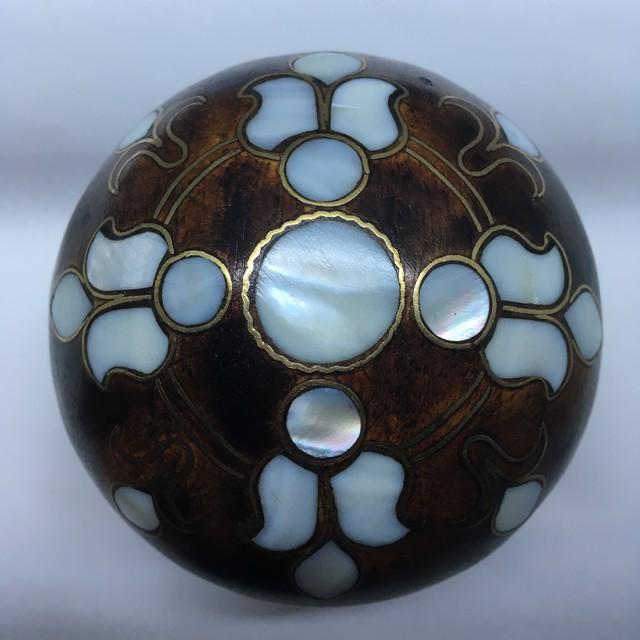 トルコ工芸品  Pearl Wood Jewelry Box  B-2