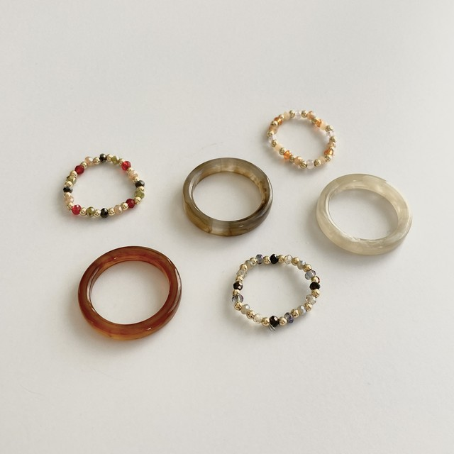 story ring set(3 colors)