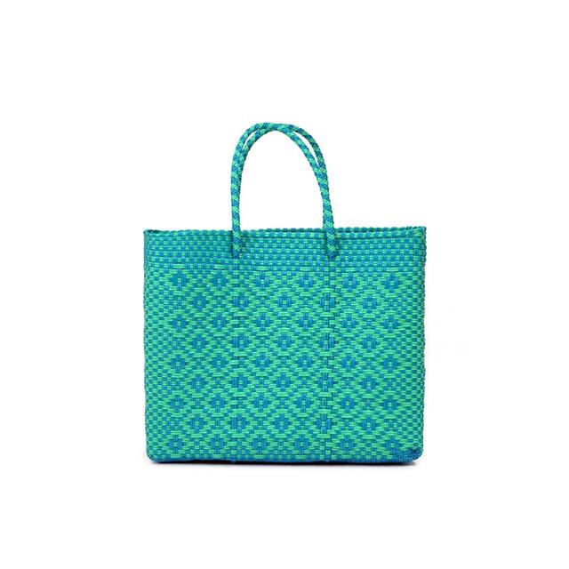 MERCADO BAG ROMBO - Mint x L. Blue(XS)