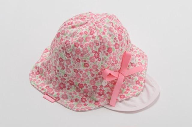 【sweet girl】 ベビー小花柄帽子