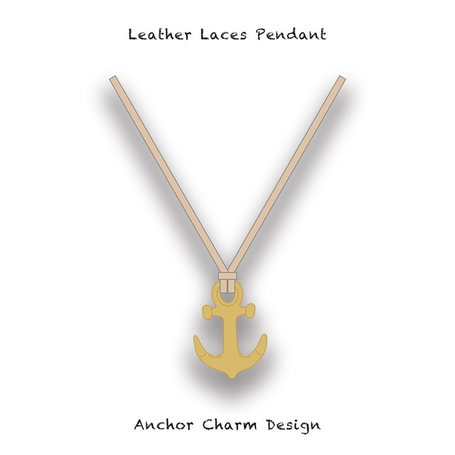 Leather Laces Pendant / Anchor Charm Design