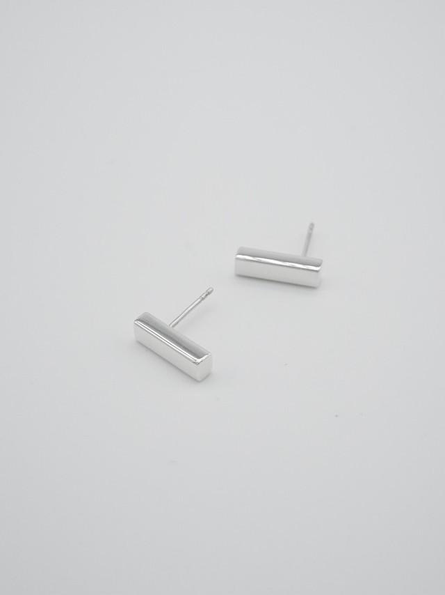 long bar pierce silver medium