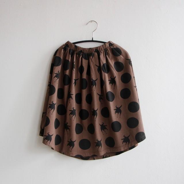 《WOLF & RITA 2020AW》SIMONE skirt / disco bird bege