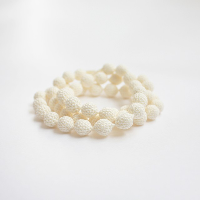 【ball necklace】コットン M(IV / BK)