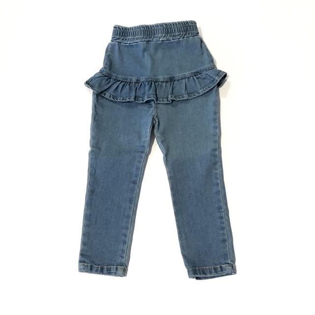 韓国子供服 デニムフリルパンツ