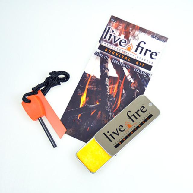 Bush Craft Inc ブッシュクラフト Live Fire Gear ライブファイヤー(Live Fire) オリジナル サバイバルキット  火おこし 自然派 キャンプ アウトドア サバイバル 06-03-liti-0005
