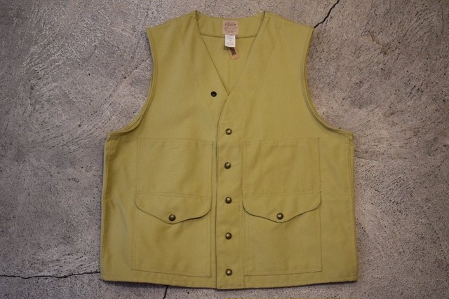 USED FILSON Tin cloth Cruiser Vest -42 V0564