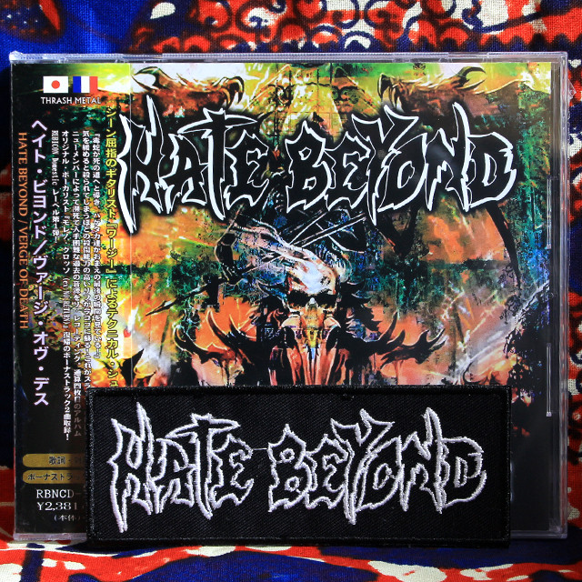 HATE BEYOND『Verge Of Death』CD+限定パッチ・セット!