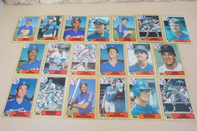 1986年テキサスレンジャーズのベースボールカードいっぱい!ボビーバレンタインもいる!