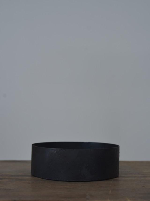 大山求 黒錆茶盤