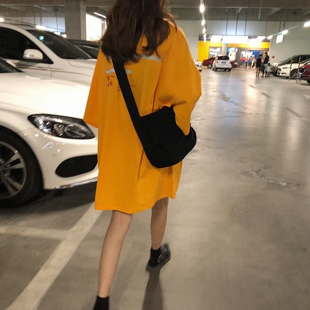 【dress】ファッション中袖プリントプルオーバーカジュアルワンピース