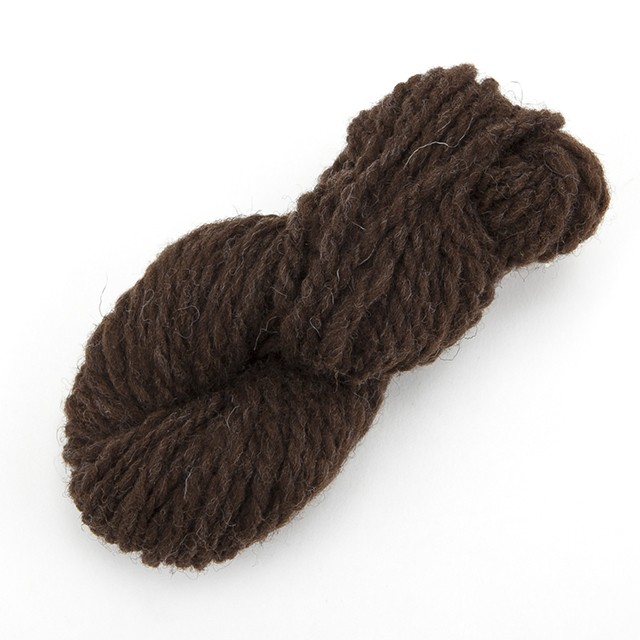 ナチュラルコリデール濃茶 ゲージ用糸サンプル (n_corri2)手紡ぎ毛糸オーダー(送料込)