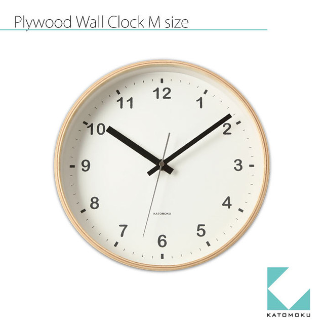 KATOMOKU plywood wall clock km-33M