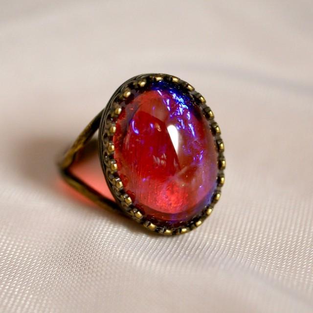 ドラゴンブレス モダンガラス リング(指輪)