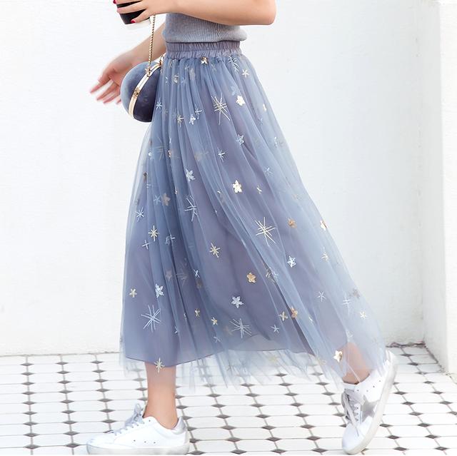 キラキラ メッシュ ロングスカート SHQ301301