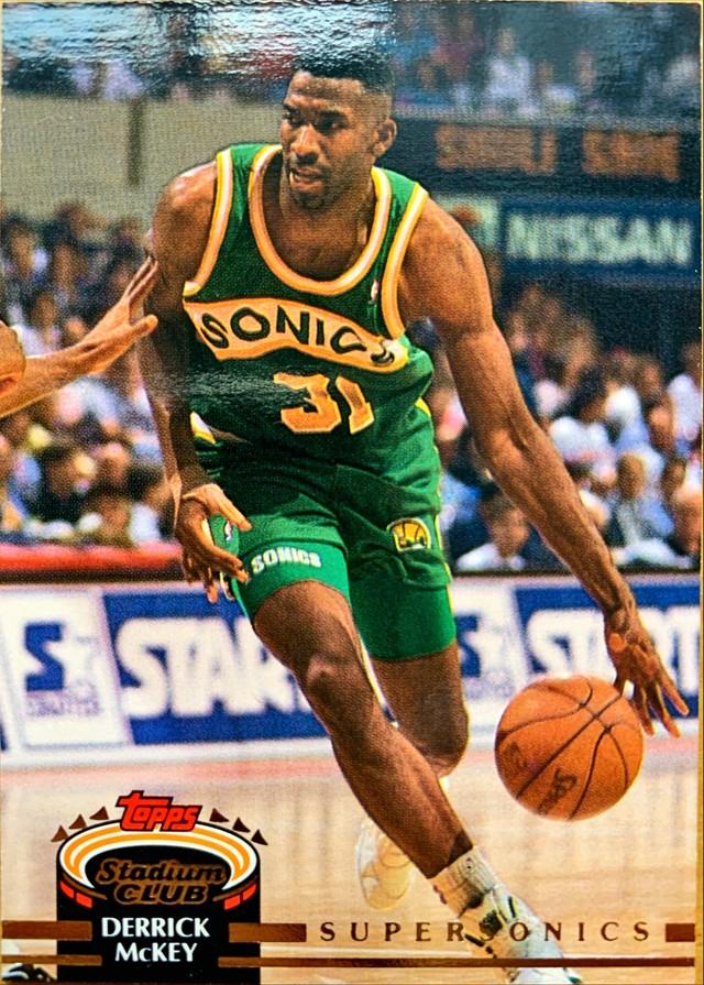 NBAカード 92-93TOPPS Derrick Mckey #75 SUPERSONICS