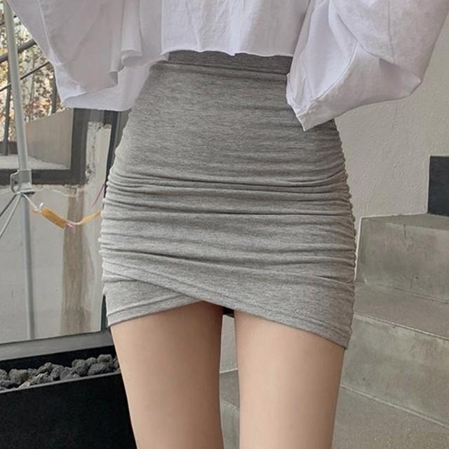 【ボトムス】セクシー合わせやすい気質溢れるギャザー飾りミニ丈 上品らしく  スカート36982611