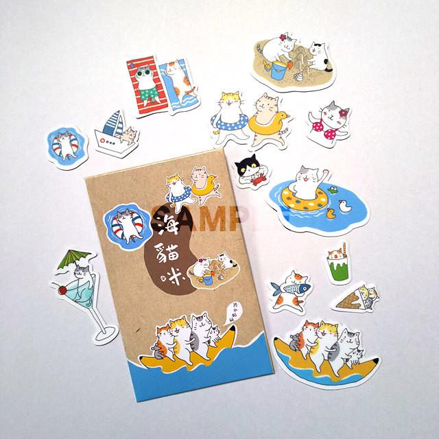 猫 防水シール(海猫咪)