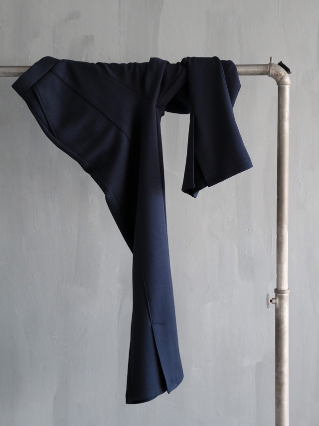bonding slit pants(navy)
