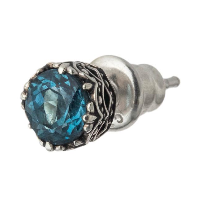 ジュエルクラウンピアス ロンドンブルートパーズ ACE0165 Jewel Crown Earrings London Blue Topaz