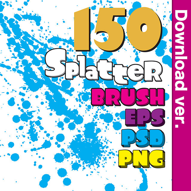 ★50%OFF★しぶき素材集2-2/Splatter_Brush_2-2