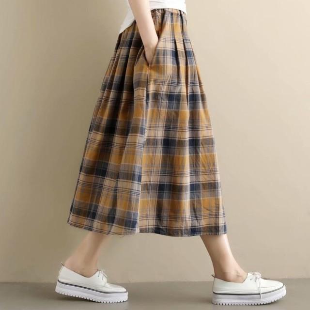 【ボトムス】憧れカジュアルハイウエストAラインギャザー飾りスカート44177928