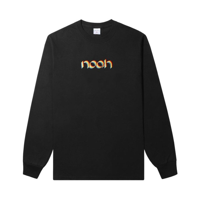 Rainbow Embroidered Long Sleeve Tee(Black)
