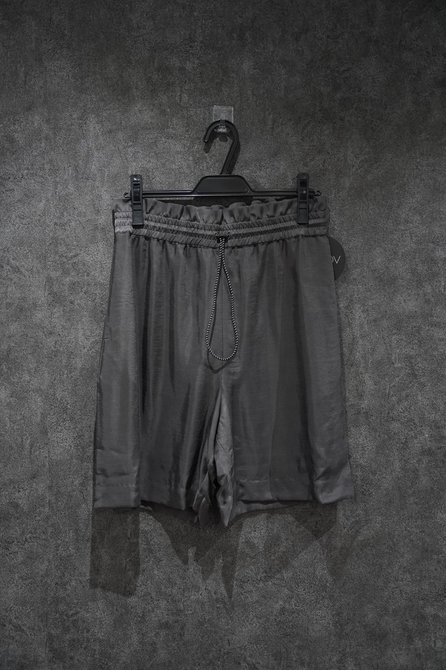 VOAAOV CUPRO DYED TWILL SHORTS charcoal