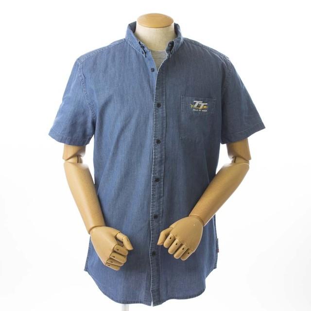TT Denim Short Sleeved Shirt Blue