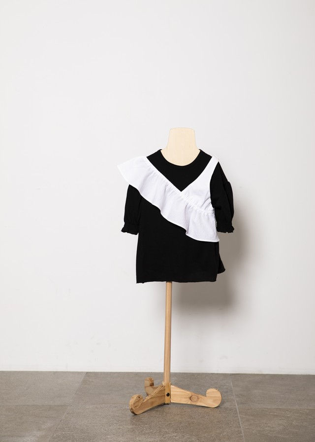 【21SS】folkmade(フォークメイド) one shoulder white(L)