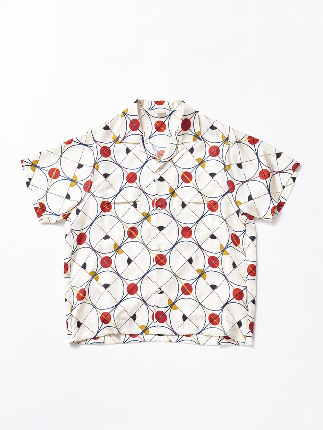 MAISON EUREKA 50'S BOWLING PATCHWORK SHIRT Euclid Red White 229