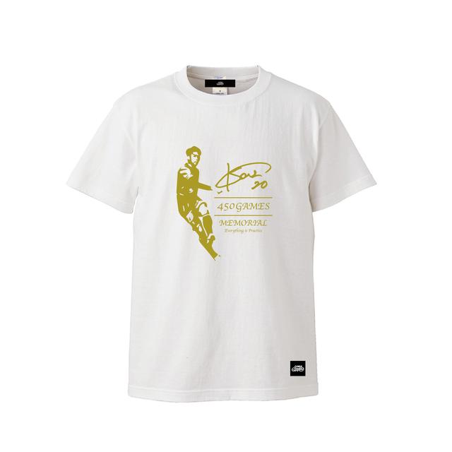 上里一将選手450試合出場記念コットンTシャツ / ホワイト   SINE METU