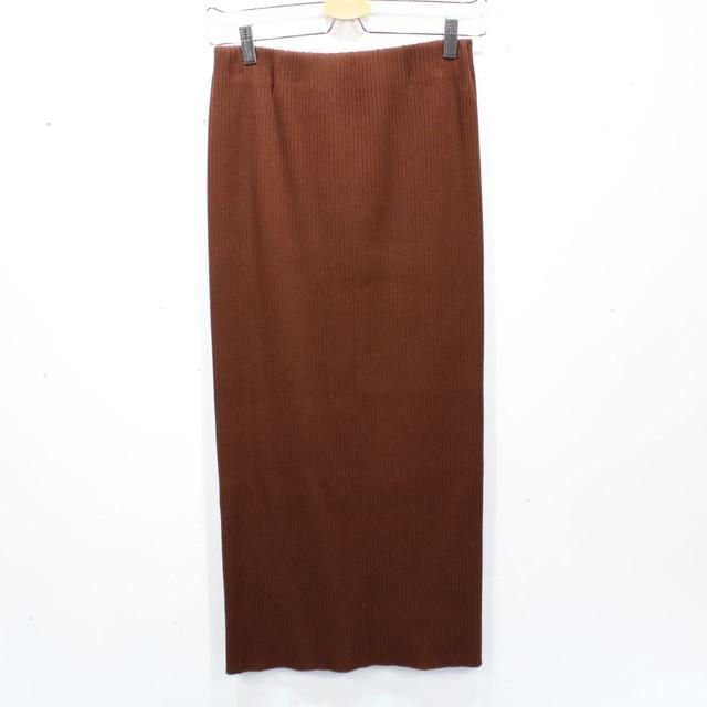 【美品】NOBLE /ノーブル   2020SS   トタンテレコタイトスカート   38   ブラウン   レディース